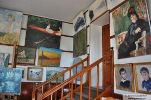 Primer estudio de Claude Monet en su casa de Giverny