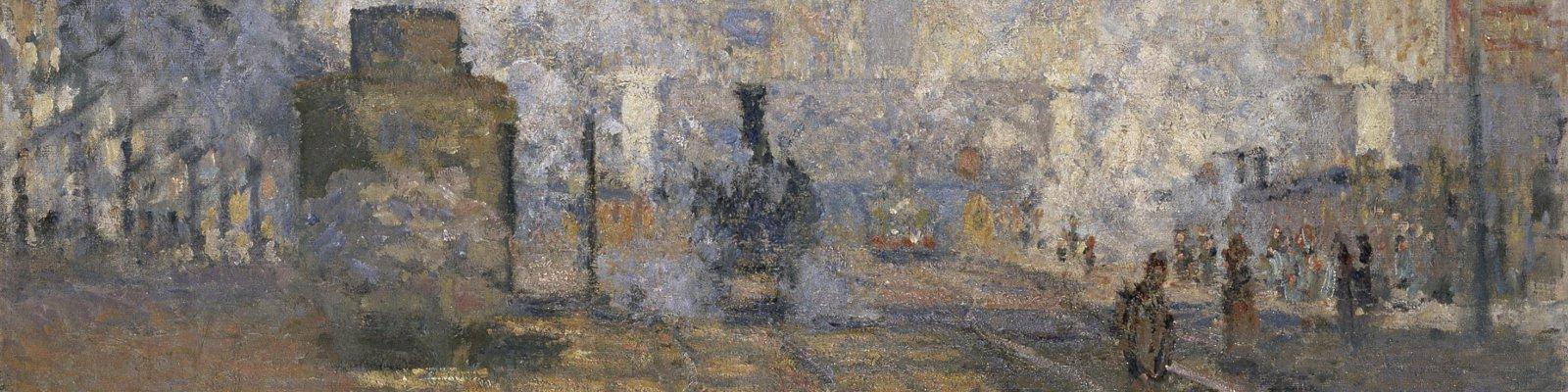 La estacion Saint Lazare en Paris pintada por Claude Monet