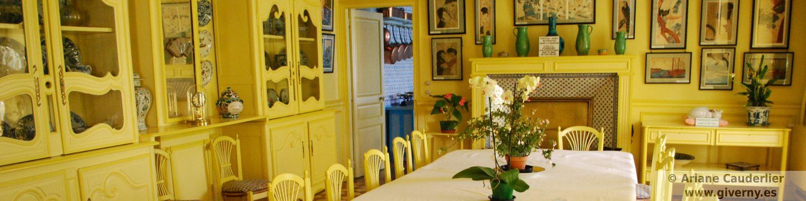El comedor de Claude Monet en su casa de Giverny